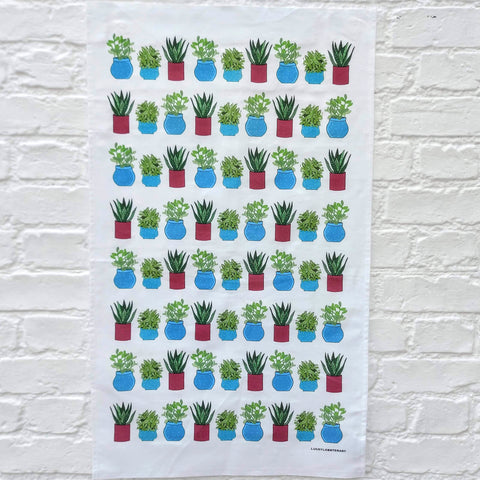Plant tea towel