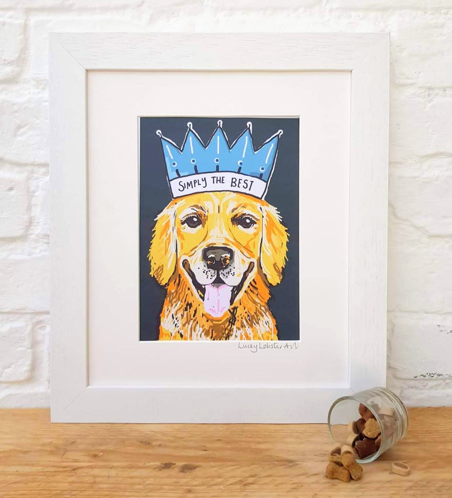 Golden Retriever 'Simply the Best' Print