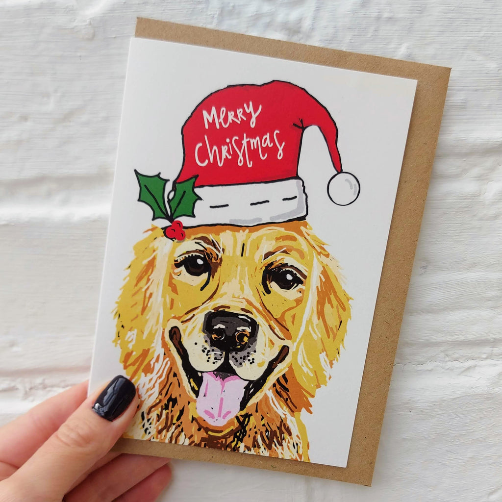Golden Retriever Christmas card