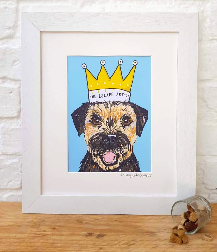 Boarder Terrier 'The Escape Artist' Print