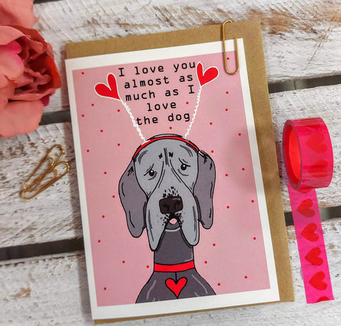 Valentines Dog card