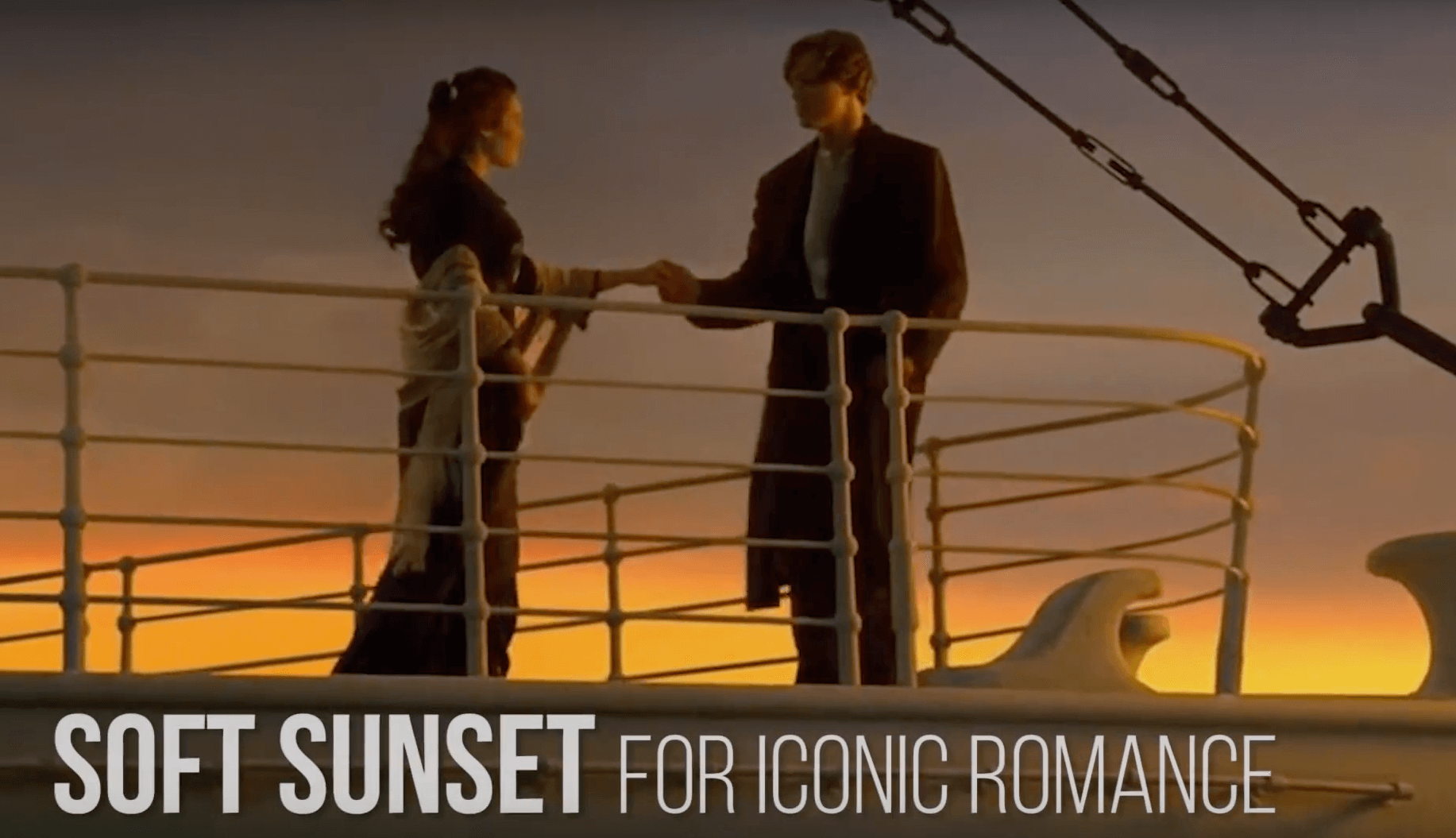 soft sunset for iconic romance
