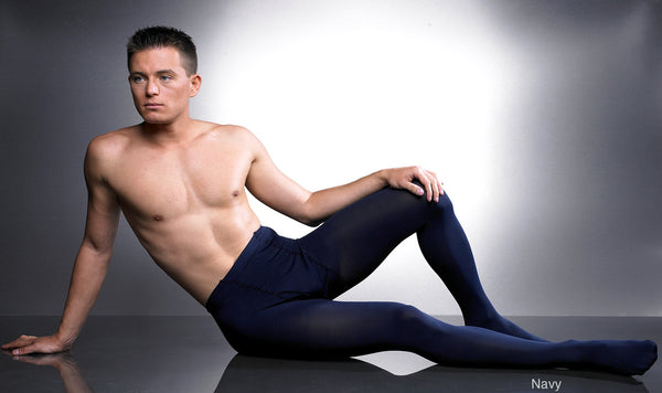 man in opaque tights