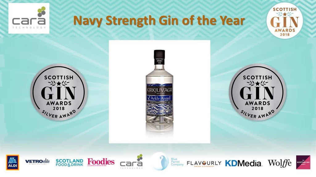 Arkh Angell wins a Silver Medal at the Scottish Gin Awards!