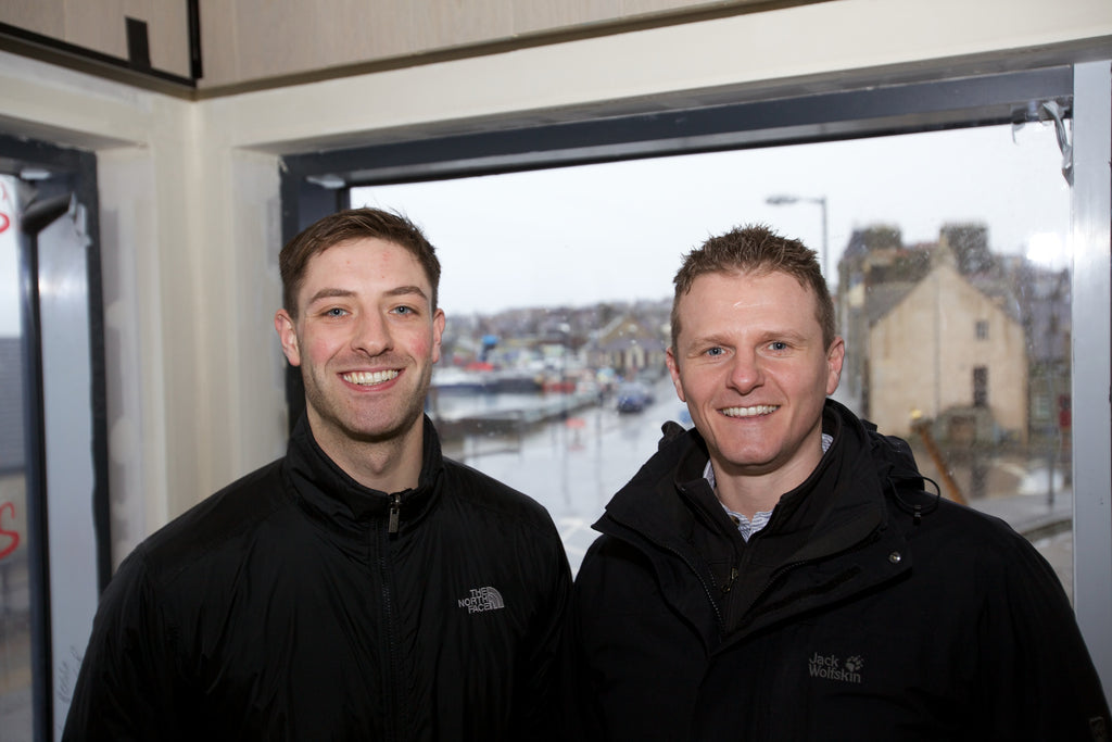 Orkney Distilling head of production Louis Wright and director Stephen Kemp