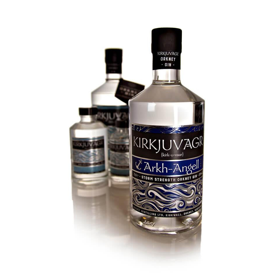 Kirkjuvagr Arkh Angell Storm Strength Orkney Gin - 70cl