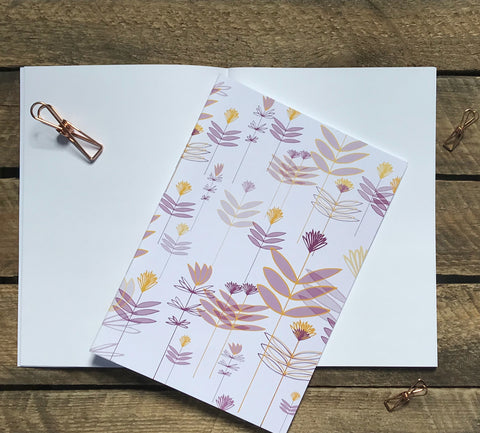 Scandi Flowers A5 Notebook
