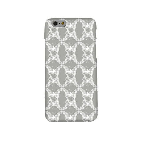 Grey Lace Butterflies Mobile Phone Case