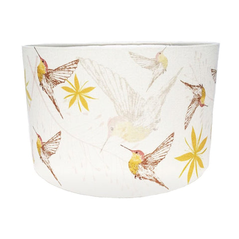 white hummingbird lampshade