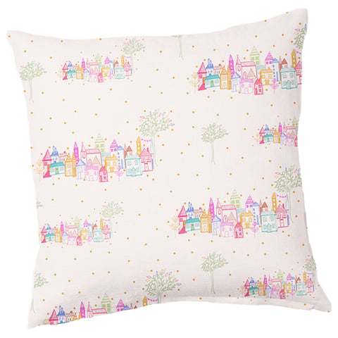 Coastal Town Cushion - 40cm