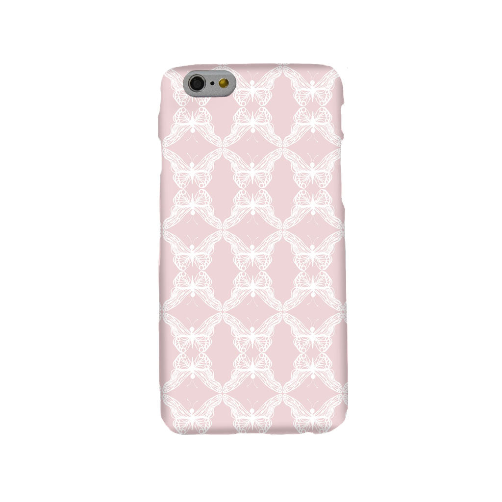Rose Pink Lace Butterflies Mobile Phone Case