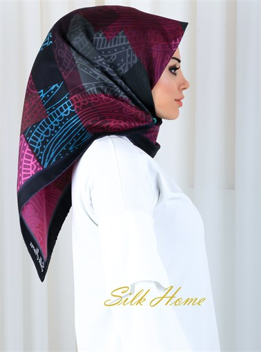Silk Home :  Turkish Night Pure Silk Head Cover
