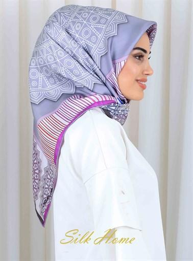 Silk Home : My Darling Lilac Beautiful Silk Scarf from Turkey Silk Home Silk Home