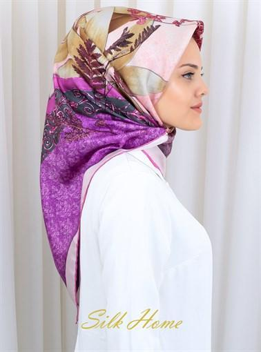 Silk Home :  Vibrant Purple Charming Silk Scarf