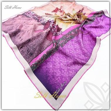 Silk Home : Vibrant Purple Charming Silk Scarf Silk Home Silk Home