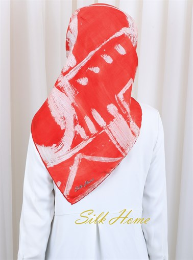 Silk Home : Passion Cherry Turkish Silk Scarf