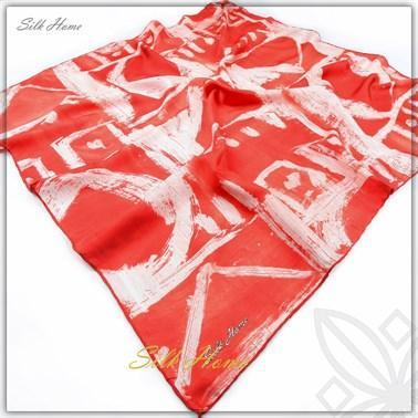 Silk Home : Passion Cherry Turkish Silk Scarf Silk Home Silk Home