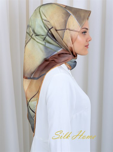 Silk Home : A Brand New Start Fancy Silk Scarf