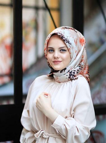 Silk Home :  A Turkish Pride Modest Silk Head Scarf