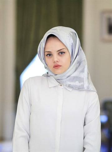Silk Home :  Frosty Dream Beautiful Silk Hijab Scarf