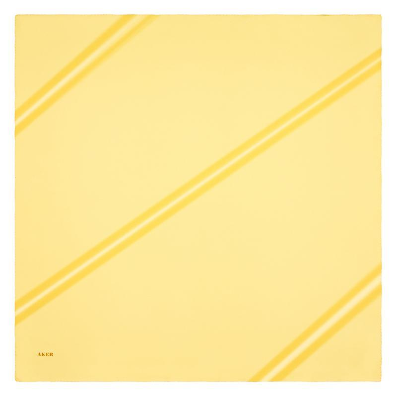 Aker Solid Color Yellow Designed To Captivate Aker,Silk Scarves Aker