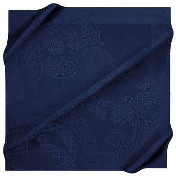 Aker Jacquard Silk Satin Scarf - Midnight Express Aker,Silk Scarves Aker