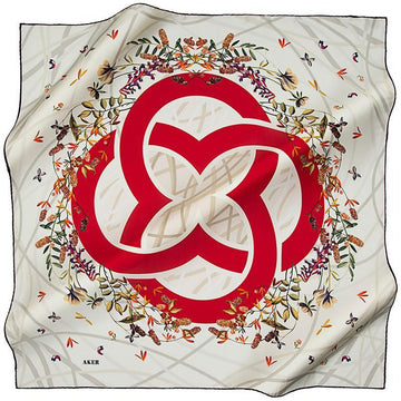 Aker Beauty Abounds From The Magical Center Of This Silk Scarf Aker,Silk Scarves Aker