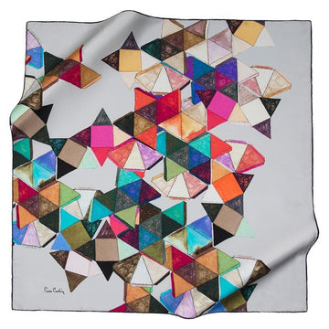 Pierre Cardin : Montreal Abstract Art Stylish Fashion Scarf Pierre Cardin,Silk Scarves Pierre Cardin