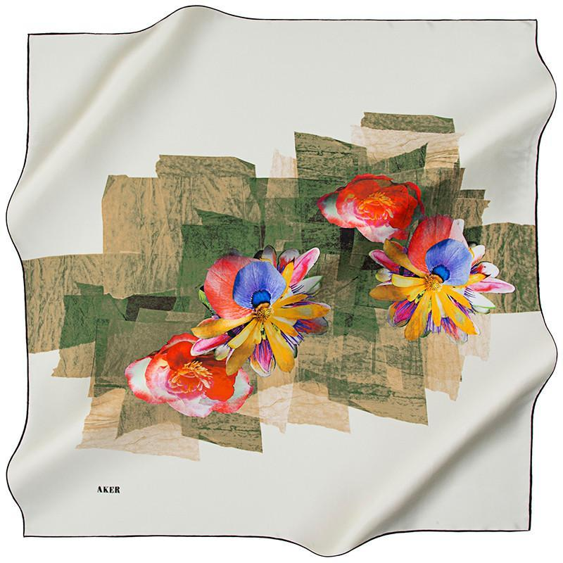 Aker Bucharest Silk Scarf Aker,Silk Scarves Aker