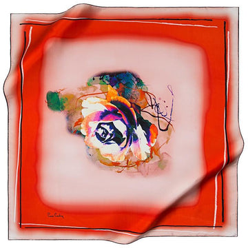 Pierre Cardin : You are My Only Valentine Square Silk Scarf Pierre Cardin,Silk Scarves Pierre Cardin