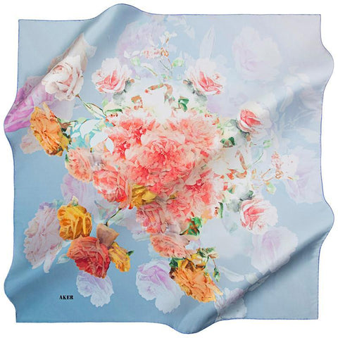 Aker Celebrate A Classic Twist On Elegance With This Silk Scarf - Beautiful Hijab Styles