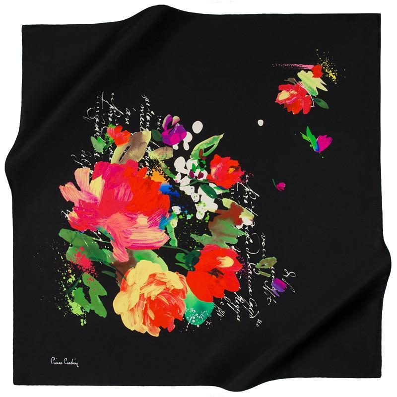 Pierre Cardin Colors Burst From Beyond On This Silk Scarf - Beautiful Hijab Styles