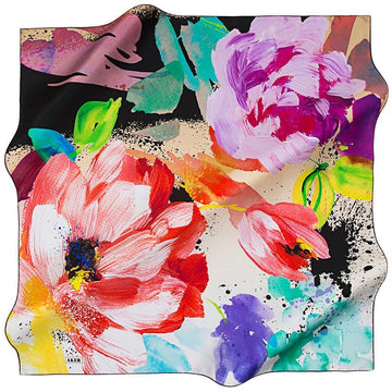 Aker Delilah Stylish Square Turkish Silk Scarf Aker,Silk Scarves Aker