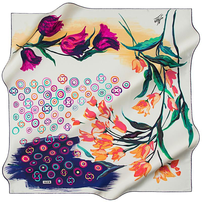 Aker Experience the Multi-Faceted Elegance Of This Fashion Scarf Aker,Silk Scarves Aker