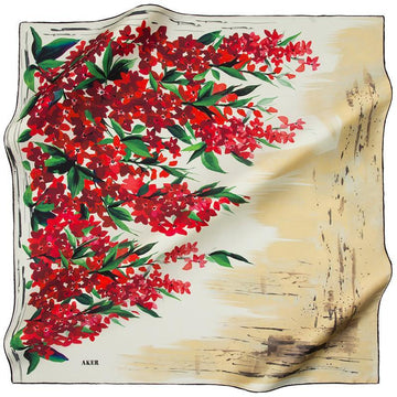 Aker Keshika Turkish Silk Scarf for Women Aker,Silk Scarves Aker