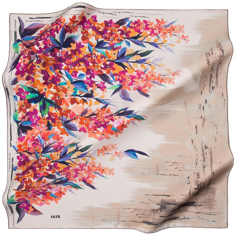 Aker Keshika Turkish Silk Scarf for Modern Women Aker,Silk Scarves Aker