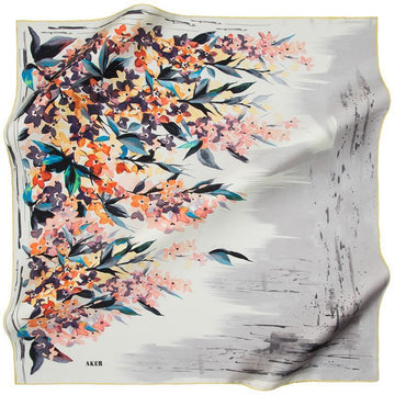 Aker Keshika Turkish Silk Scarf for Classy Women Aker,Silk Scarves Aker