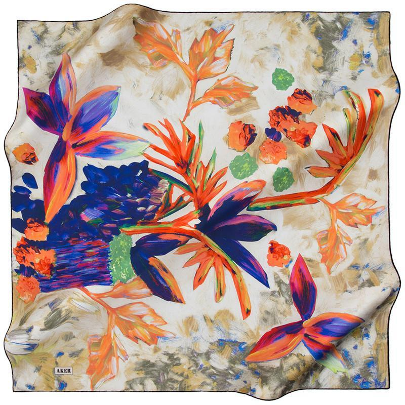 Aker Gems And Sheen And Everything In Between On This Silk Scarf Aker,Silk Scarves Aker