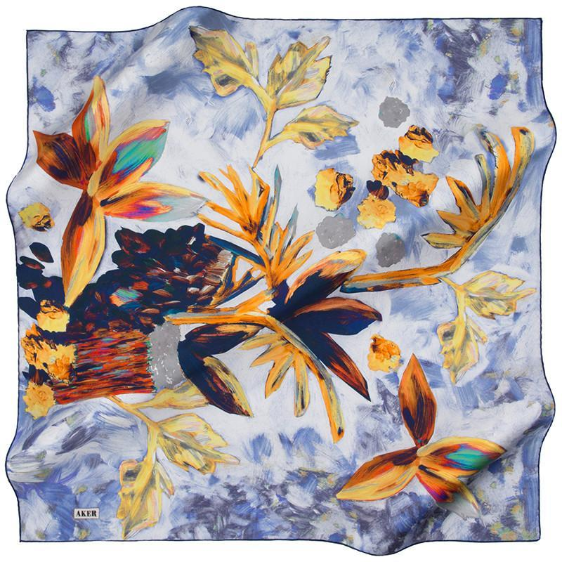 Aker Get Merry And Cherry Silk Scarf for Modern Women