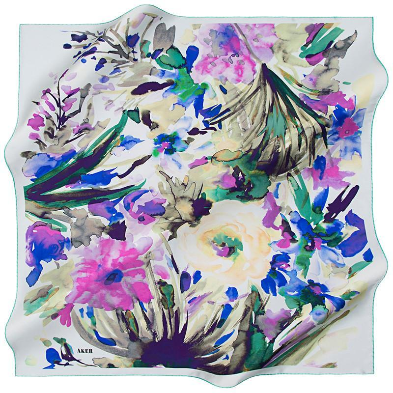 Aker Magical Mystery Ride On A Silk Scarf Aker,Silk Scarves Aker