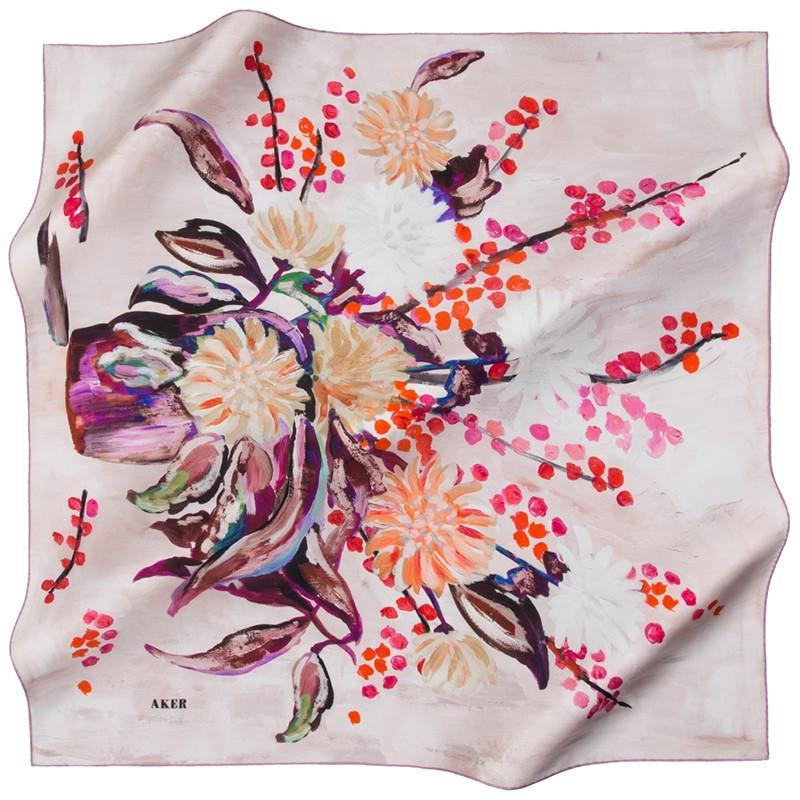 Aker Naal Silk Scarf for Women Aker,Silk Scarves Aker