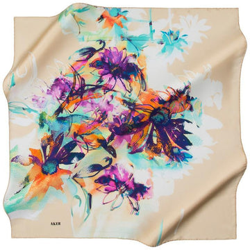 Aker October Rain Silk Scarf for Women Aker,Silk Scarves Aker