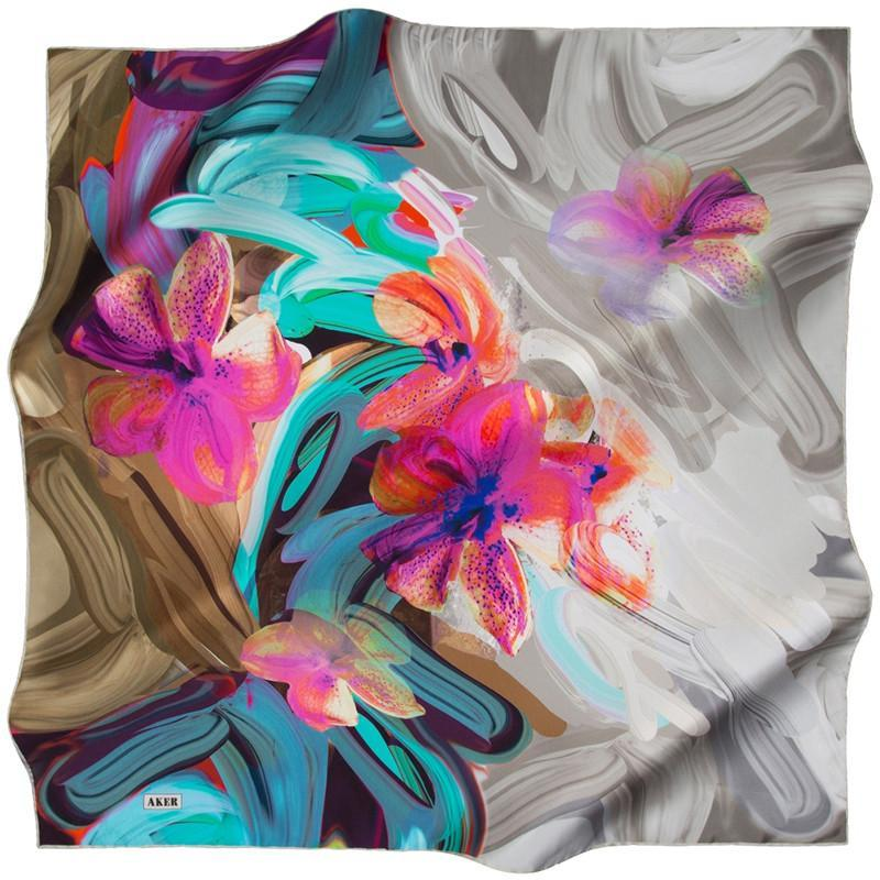 Aker Raffles Silk Scarves: Playful Silk Fashion Scarves
