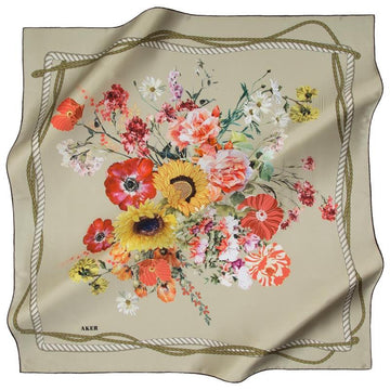 Aker September Delight Silk Scarf Aker,Silk Scarves Aker