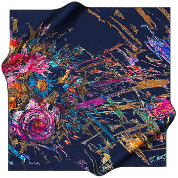 Pierre Cardin : Art de Fleur Beautiful Neck Scarf Pierre Cardin,Silk Scarves Pierre Cardin
