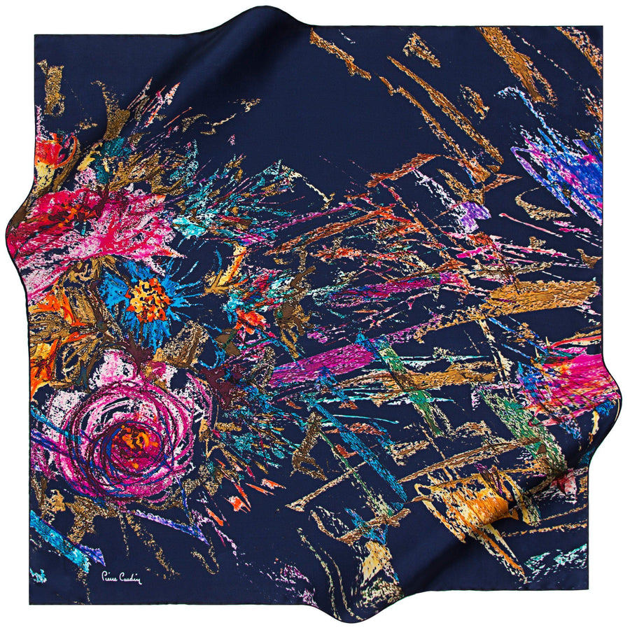 Pierre Cardin : Art de Fleur Beautiful Neck Scarf