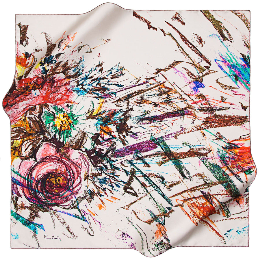 Pierre Cardin : Art de Nouveau Turkish Silk Scarf