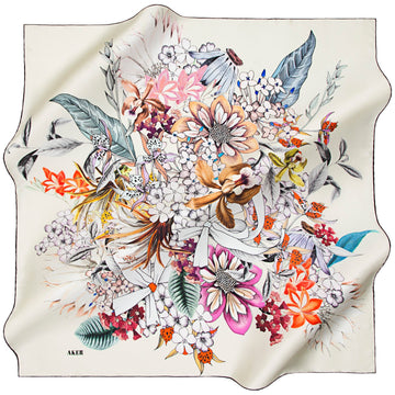 Aker : An Artist Celebration Designer Head Scarf Aker,Silk Scarves Aker