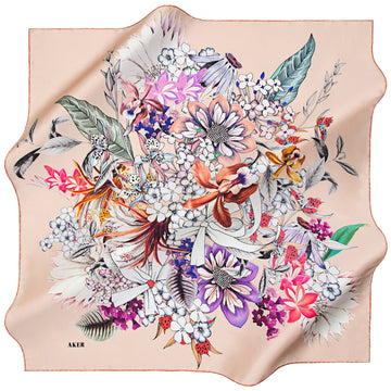 Aker : An Artist Happiness Is Hard to Pursue Aker,Silk Scarves Aker