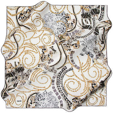 Aker : Mythology Story Silk Scarf from Turkey Aker,Silk Scarves Aker
